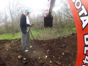 Bottle Dig with Backhoe