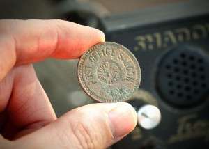Post Office Saloon Token - Fort Worth, TX