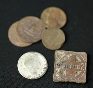 Santa Fe Stamp and Barber Quarter